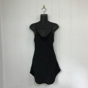 VINTAGE 80's 100% Silk Black Negligee Slip
